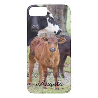 (Personalize) Baby Calf in the Spring iPhone 7 Case
