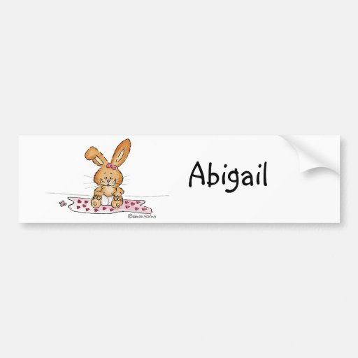 Personalize Baby Girl Design with Name Bumper Stickers