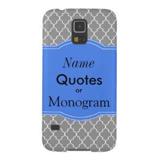 Personalize Baroque Pattern with Name Monogram Galaxy S5 Cases