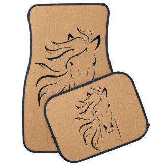 Personalize Beautiful Horse with Glamorous Mane Car Mat
