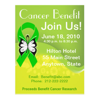 Personalize Bile Duct Cancer Fundraising Benefit 21.5 Cm X 28 Cm Flyer