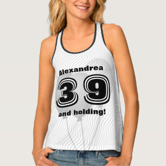 Personalize: Birthday 01 - 99th Black and White Tank Top