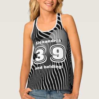 Personalize: Birthday 10 - 99th Black and White Tank Top