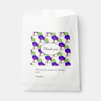 Personalize: Birthday Morning Glory Thank You Favour Bags