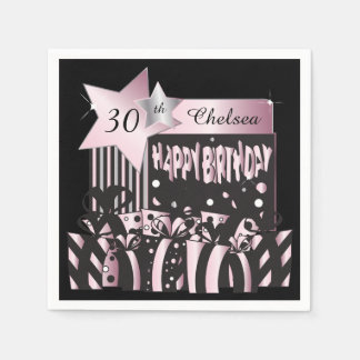 Personalize Birthday Party Napkins Paper Napkins