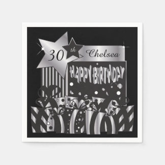 Personalize Birthday Party Napkins Paper Serviettes