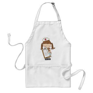 Personalize Brunette Nurse Gifts! Standard Apron