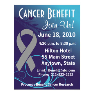 Personalize Cancer Benefit  - Brain Cancer Flyer