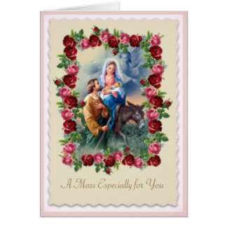 Personalize Catholic Mass Offering Card