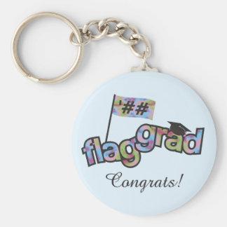 Personalize Color Guard Graduation Key Chain