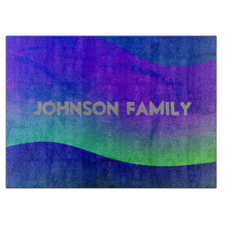 Personalize Colorful Modern Wave Design Boards