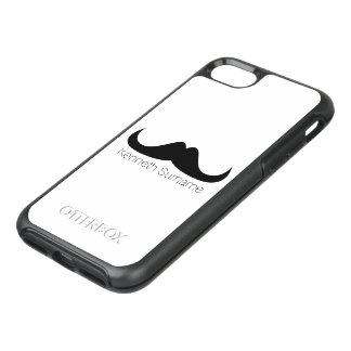 Personalize Cool Black Handlebar moustache OtterBox Symmetry iPhone 8/7 Case