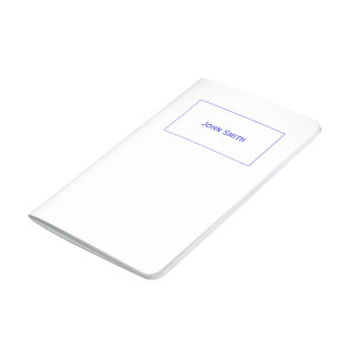 Personalize: Corporate Blue and White Minimalist Journals