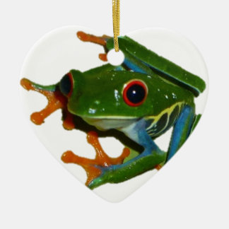Personalize Costa Rica Red Eyed Frog Christmas Ornament