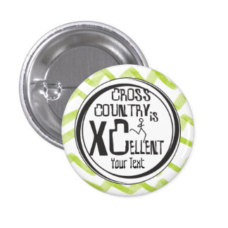 Personalize © Cross Country Running is XCellent 3 Cm Round Badge