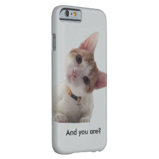 Personalize Curious Kitten on Your Smartphone Barely There iPhone 6 Case