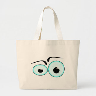 Personalize Cute Eyes Beach Sport Tote Bag