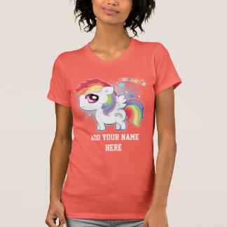 Personalize Cute kawaii rainbow pony Tshirt