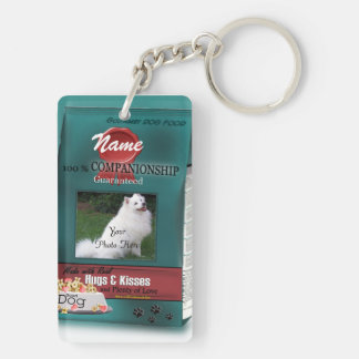 Personalize Dog Food Brand Double-Sided Rectangular Acrylic Keychain