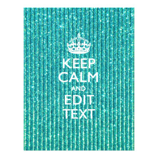 Personalize Easily KEEP CALM AND Edit Text Glitter 21.5 Cm X 28 Cm Flyer
