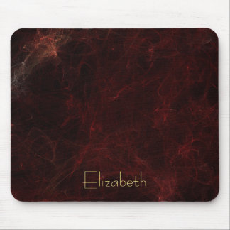 Personalize Elegant Smoke and Fire Abstract Mouse Mat