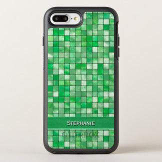 Personalize: Emerald Green Decorative Tile OtterBox Symmetry iPhone 7 Plus Case