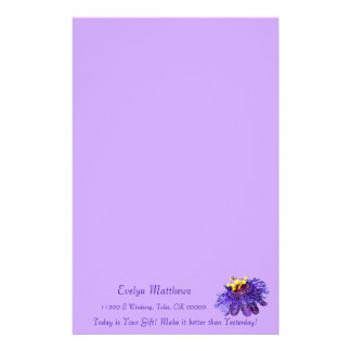 Personalize Exotic Purple Passion Flower Custom Stationery