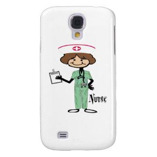 Personalize Female Nurse Galaxy S4 Cases