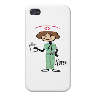Personalize Female Nurse Case For iPhone 4