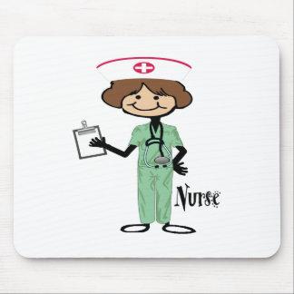 Personalize Female Nurse Mousepad