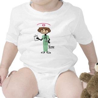 Personalize Female Nurse Bodysuits