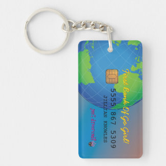 Personalize First Divorce Credit Card Double-Sided Rectangular Acrylic Key Ring