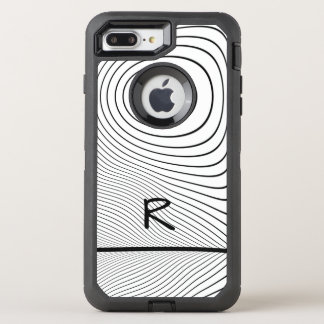 Personalize: Fun Distorted Black and White Stripes OtterBox Defender iPhone 8 Plus/7 Plus Case