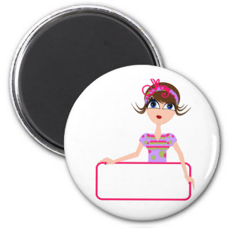 PERSONALIZE GIFTS FOR ALL 6 CM ROUND MAGNET