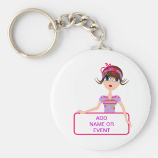 PERSONALIZE GIFTS FOR ALL BASIC ROUND BUTTON KEY RING