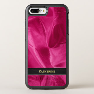 Personalize: Girly Faux Fuchsia Lame' Metallic OtterBox Symmetry iPhone 8 Plus/7 Plus Case