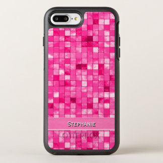 Personalize: Girly Fushsia Decorative Tile Pattern OtterBox Symmetry iPhone 8 Plus/7 Plus Case