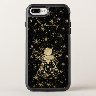 Personalize: Gold/Black Christmas Angel of Grace OtterBox Symmetry iPhone 8 Plus/7 Plus Case
