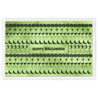 Personalize: Green Halloween Fun Font Art Pattern