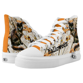 Personalize: Halloween Black Cat Photograph High Tops