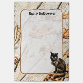 Personalize: Halloween Black Cat Photograph Post-it Notes