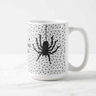 Personalize:  Halloween Black Spiders Swarm Basic White Mug