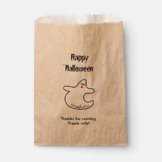 Personalize Happy Halloween Diva Ghost Favour Bags