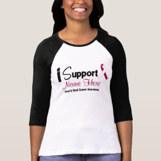 Personalize I Support Head Neck Cancer Awareness T Shirts