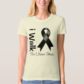 Personalize I Walk For Skin Cancer Awareness Tee Shirt