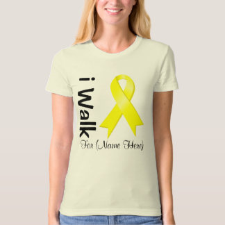 Personalize I Walk For Testicular Cancer Awareness Tee Shirt
