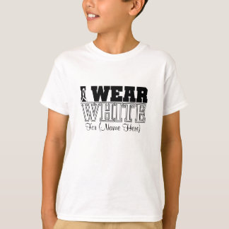 Personalize I Wear White Ribbon Retinoblastoma Tee Shirt