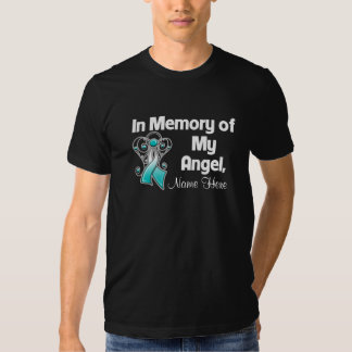 Personalize In Memory of My Angel Cervical Cancer Shirt