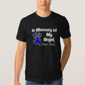 Personalize In Memory of My Angel Colon Cancer Tees
