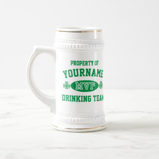 Personalize Irish Drinking Team MVP Beer Steins